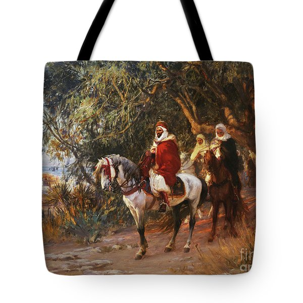 Arabs On Horseback Tote Bag