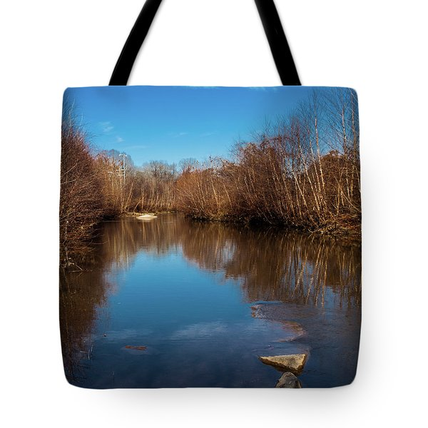 Tote Bag featuring the photograph Ararat River by Randy Sylvia