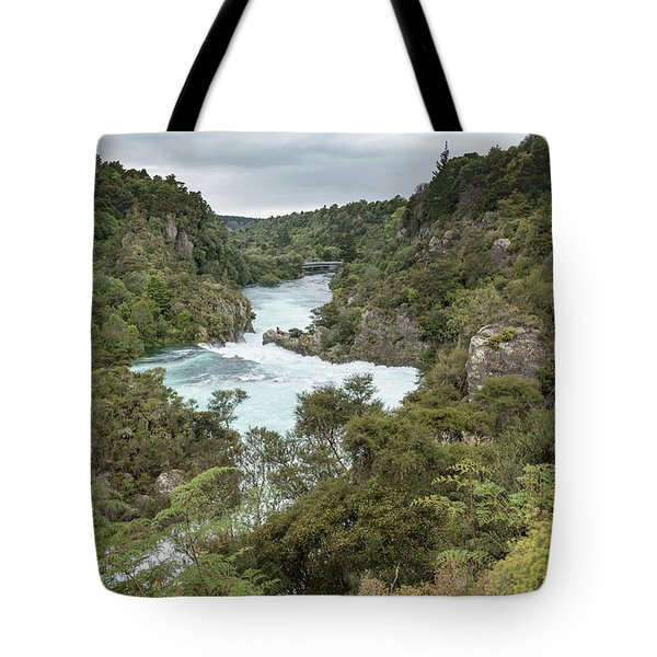 Tote Bag featuring the photograph Aratiatia Rapids by Gary Eason