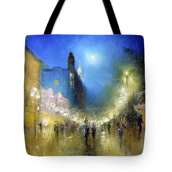 Arbat Night Lights Tote Bag