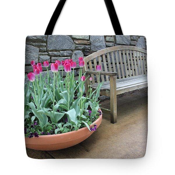 Arboretum Bench  Tote Bag