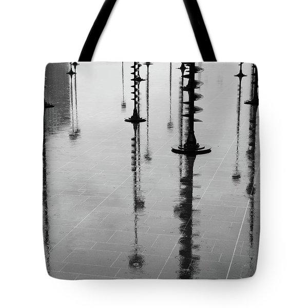 Arbres Lumineux In The Rain Paris  Tote Bag