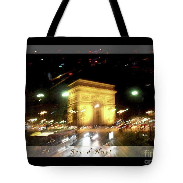 Arc De Triomphe By Bus Tour Greeting Card Poster V1 Tote Bag by Felipe Adan Lerma