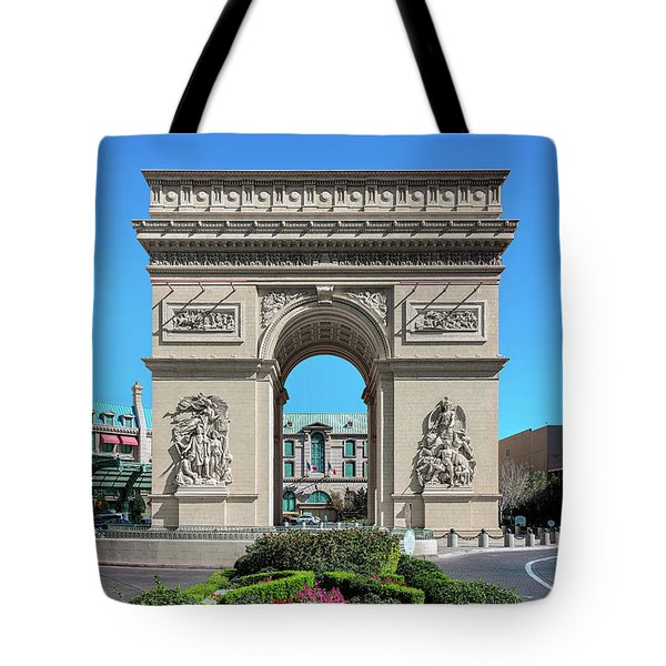 Arc De Triomphe Paris Casino Las Vegas Tote Bag
