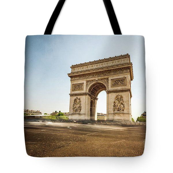 Tote Bag featuring the photograph Arc De Triumph by Hannes Cmarits