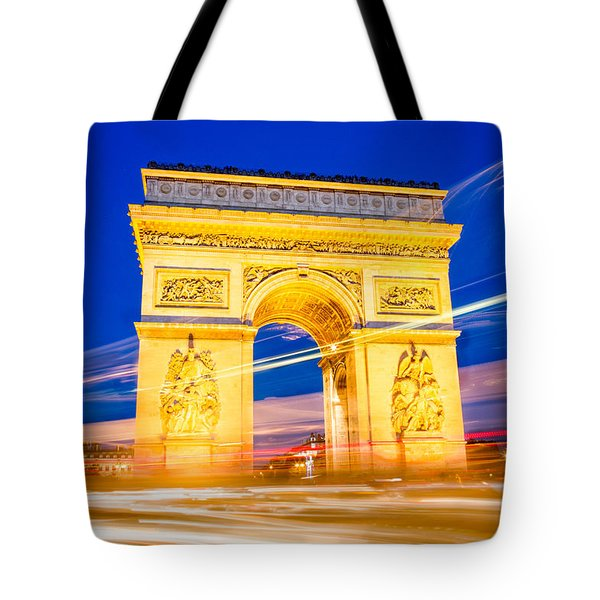 Tote Bag featuring the photograph Arc Exposure by Kim Wilson