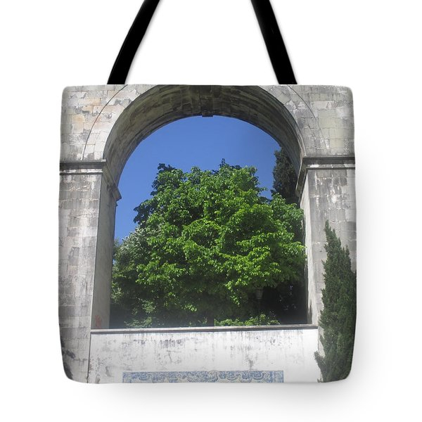 arc in the amoreiras garden in Lisbon Tote Bag