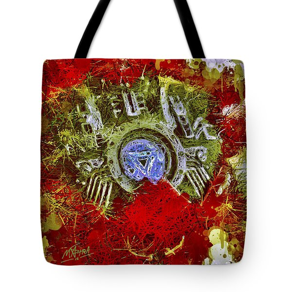 Tote Bag featuring the mixed media Iron Man 2 by Al Matra