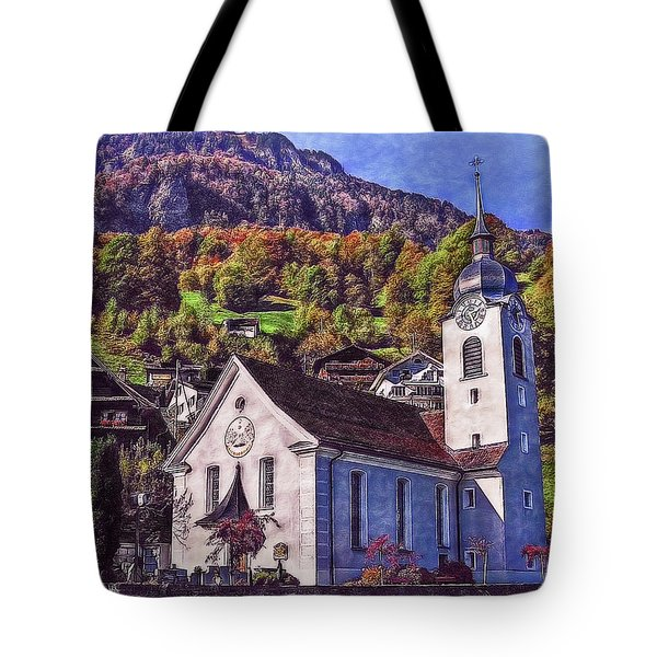Tote Bag featuring the photograph Arcadian Hamlet by Hanny Heim