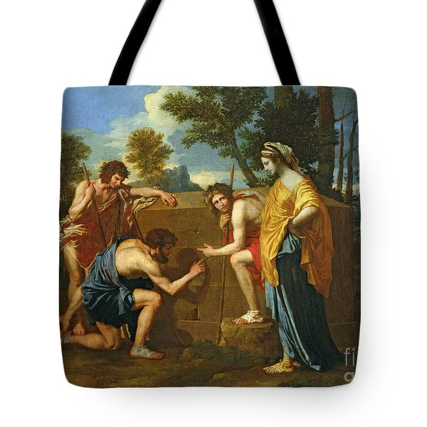 Arcadian Shepherds Tote Bag by Nicolas Poussin