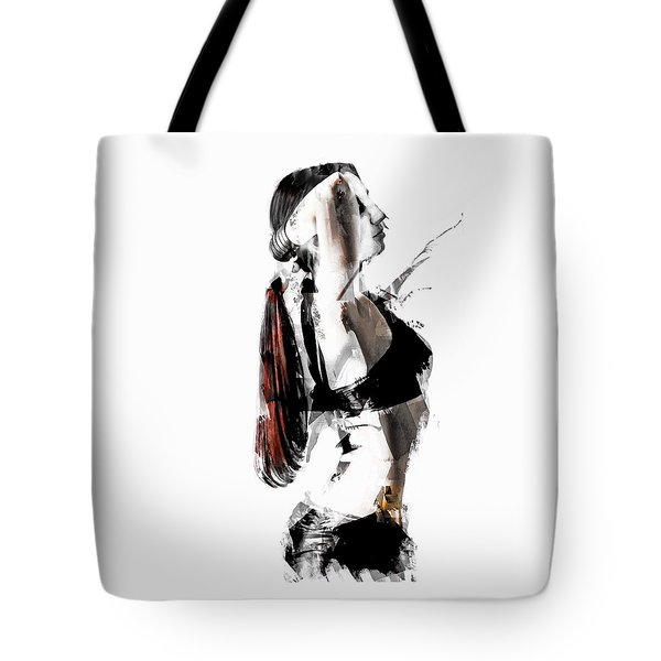 Tote Bag featuring the digital art Arch Abstract Dancer by Galen Valle