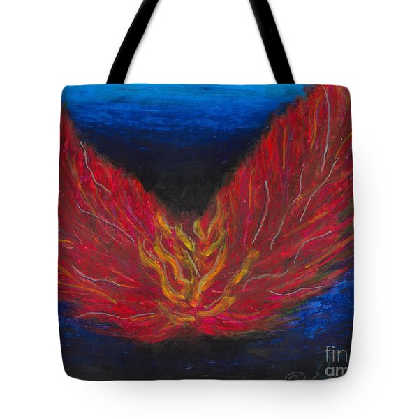 Tote Bag featuring the painting Arch Angel Gabrielle  by Ania M Milo