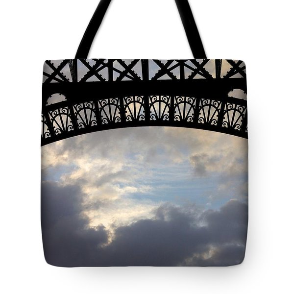 Tote Bag featuring the photograph Arch At The Eiffel Tower by Heidi Hermes