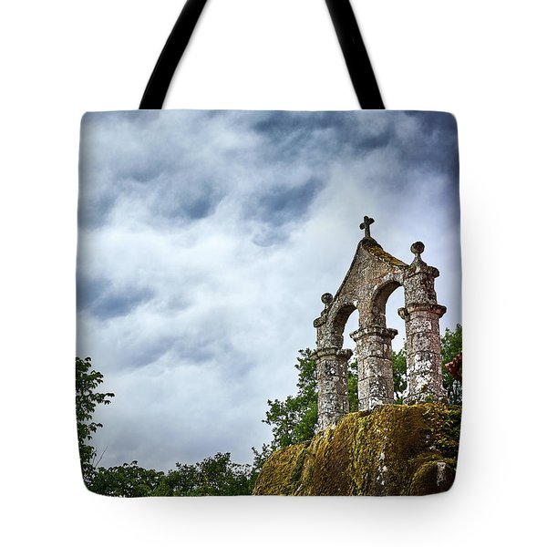 Tote Bag featuring the photograph Arch At The Monastery Of San Pedro De Rocas by Eduardo Jose Accorinti