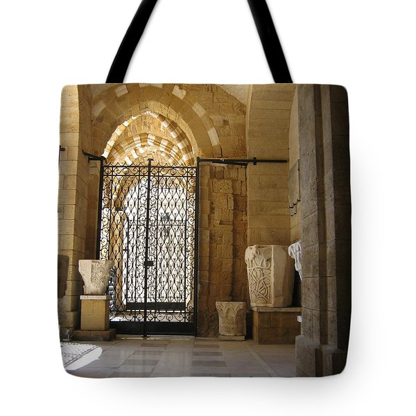 Arch Of Public Library Brindisi Italy Tote Bag