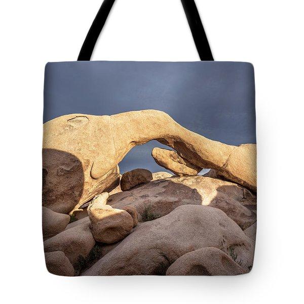 Arch Rock Panorama In Joshua Tree Tote Bag by Joe Belanger