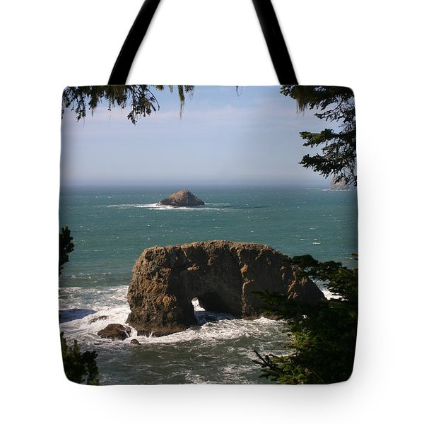 Arch Rock View Tote Bag