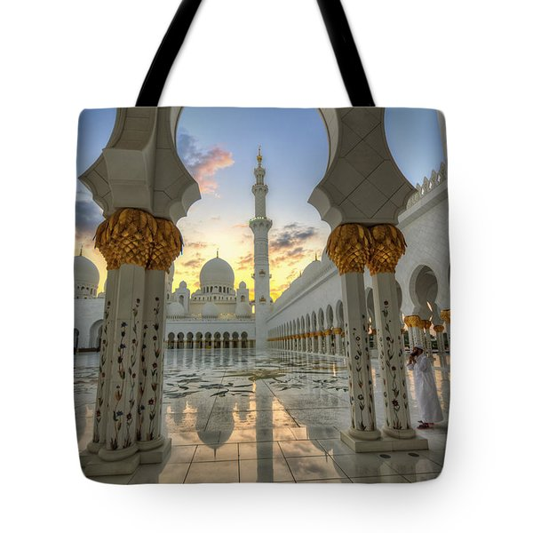 Tote Bag featuring the photograph Arch Sunset Temple by John Swartz