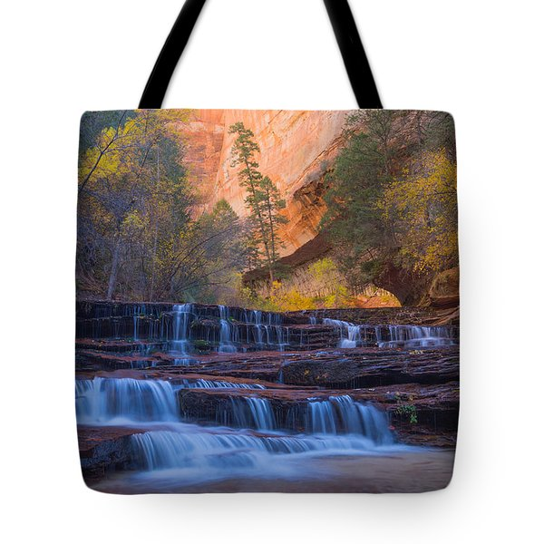 Tote Bag featuring the photograph Archangel Falls In Autumn by Patricia Davidson