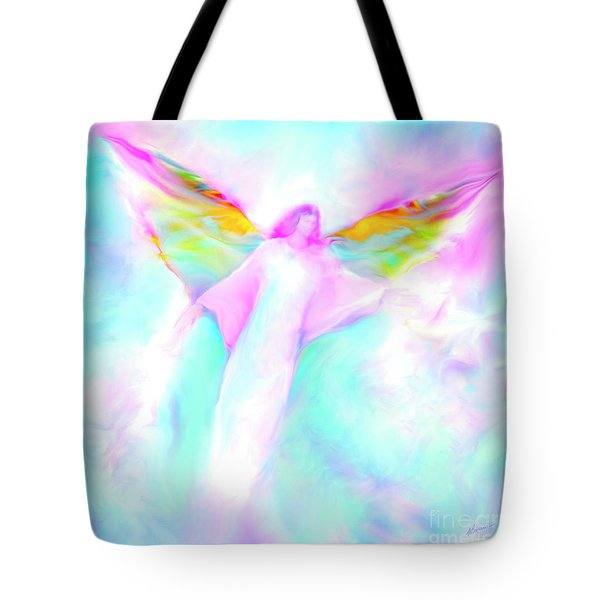 Archangel Gabriel In Flight Tote Bag