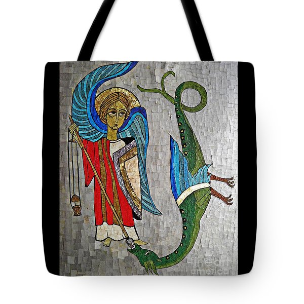 Archangel Michael And The Dragon    Tote Bag by Sarah Loft