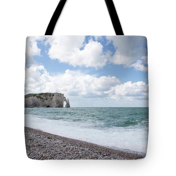 Arch At Etretat Beach, Normandie Tote Bag