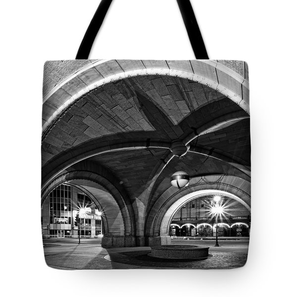 Arched In Black And White Tote Bag