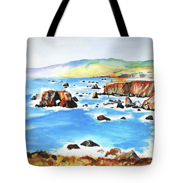 Arched Rock Sonoma Coast California Tote Bag