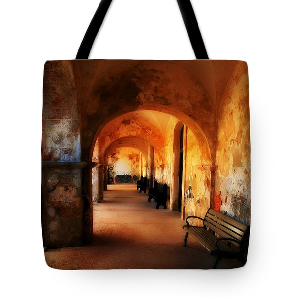 Arched Spanish Hall Tote Bag by Perry Webster