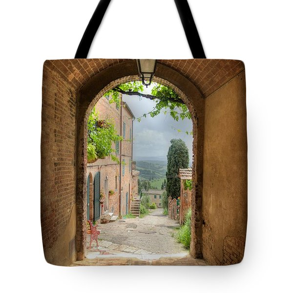 Arched View Tote Bag by Uri Baruch