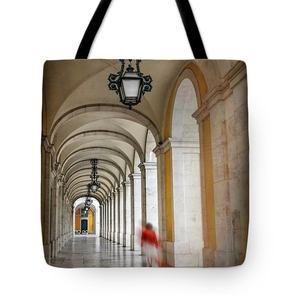 Arched Walkway Terreiro Do Paco Lisbon Portugal  Tote Bag