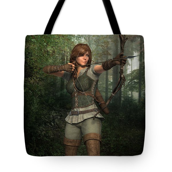 Archer In The Forest Tote Bag