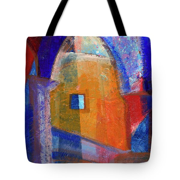 Tote Bag featuring the painting Arches And Window by Walter Fahmy