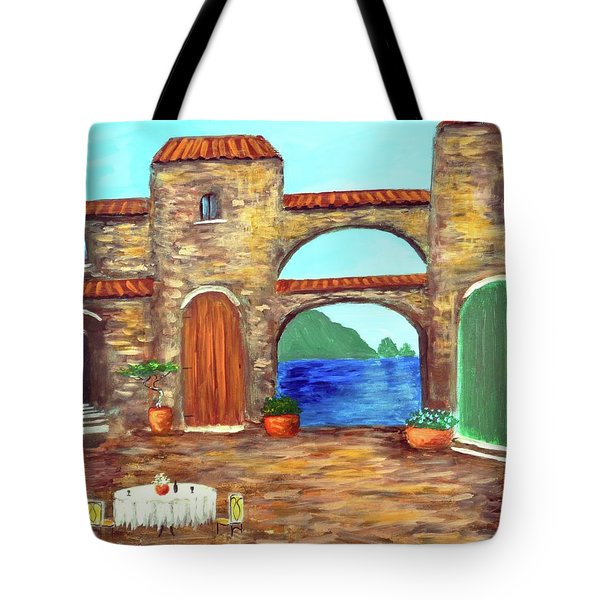 Arches Of Amalfi  Tote Bag