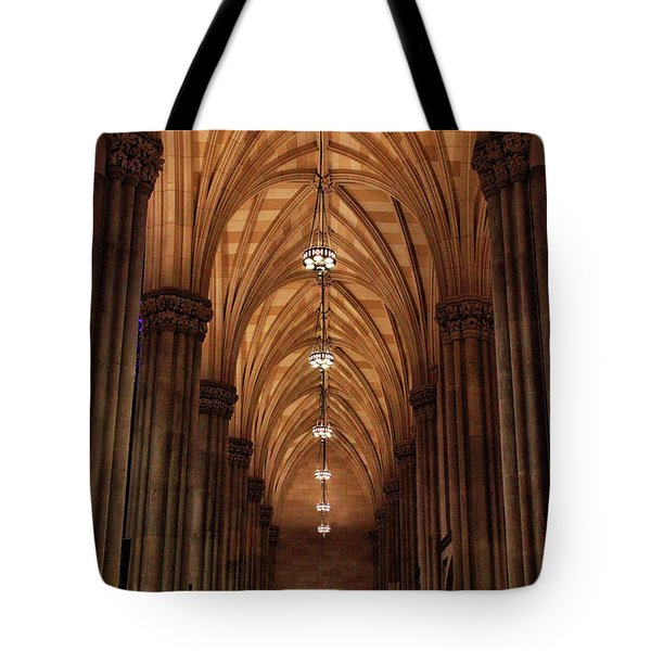 Tote Bag featuring the photograph Arches Of St. Patrick's Cathedral by Jessica Jenney
