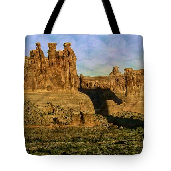 Arches Sunrise Tote Bag