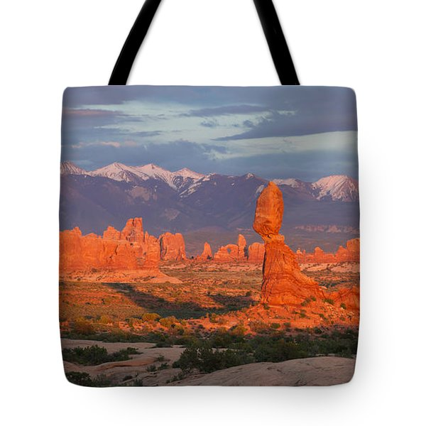 Arches Sunset Tote Bag by Aaron Spong