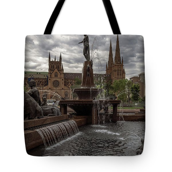 Archibald Fountain And St Mary's Cathedral Tote Bag
