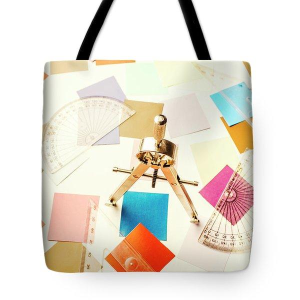 Architects Colour Pallet Tote Bag