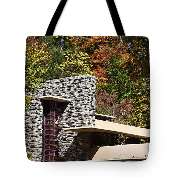 Architectural Detail Of Fallingwater -  Frank Lloyd Wright Tote Bag