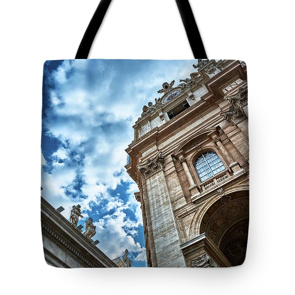 Architectural Majesty On Top Of The Sky Tote Bag