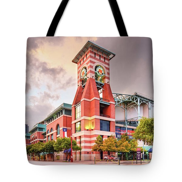 Architectural Photograph Of Minute Maid Park Home Of The Astros - Downtown Houston Texas Tote Bag
