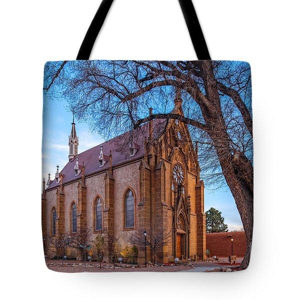 Architectural Photograph Of The Loretto Chapel In Santa Fe New Mexico Tote Bag