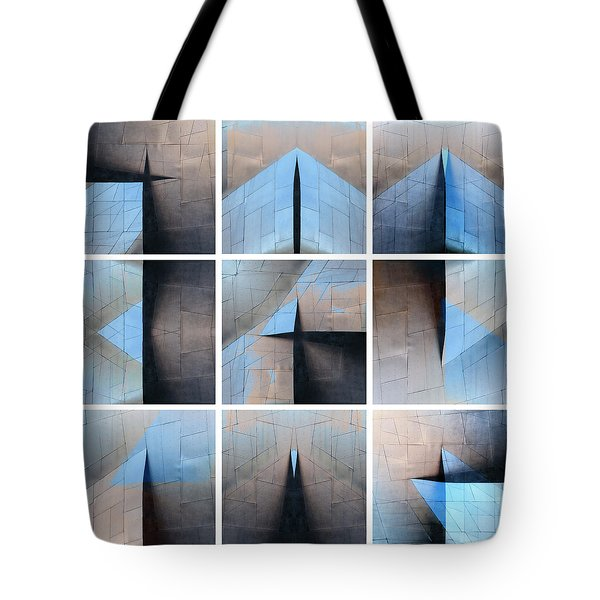 Architectural Reflections Nine-print Panel Tote Bag