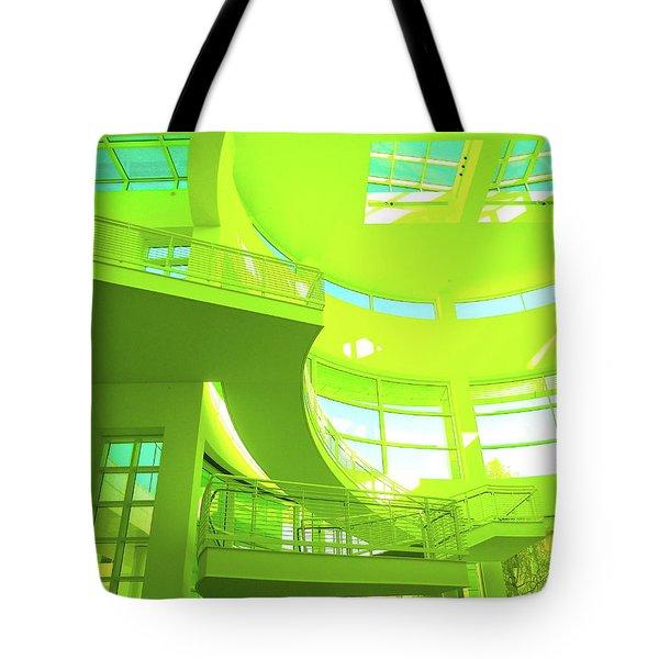 Green Splash Architecture Tote Bag