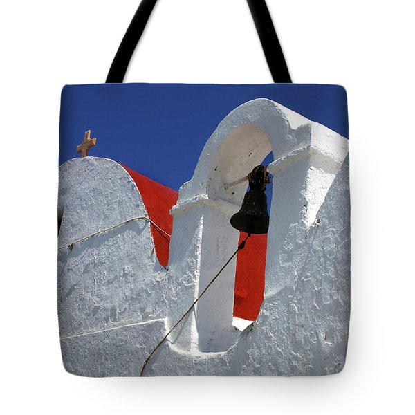 Tote Bag featuring the photograph Architecture Mykonos Greece by Bob Christopher