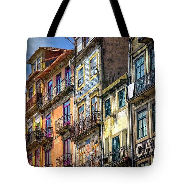 Architecture Of Old Porto Portugal  Tote Bag