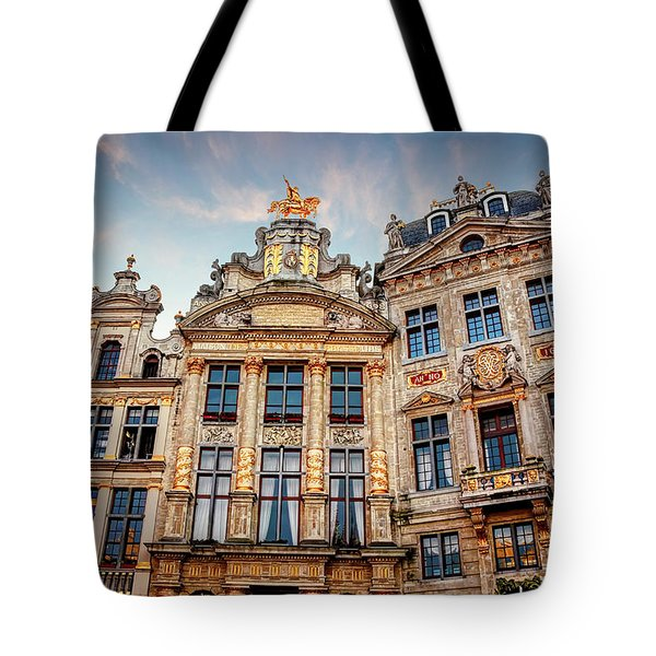 Architecture Of The Grand Place Brussels  Tote Bag