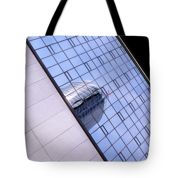 Architecture Photo On Its Side With Windows And Cement In Grand Rapids Michigan Tote Bag