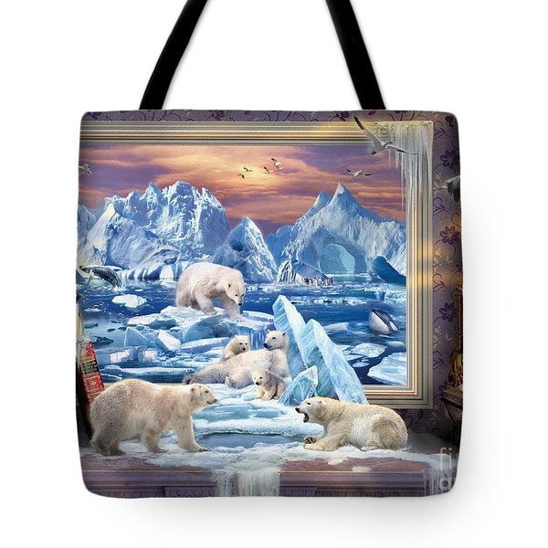 Arctic Bears Coming Tote Bag